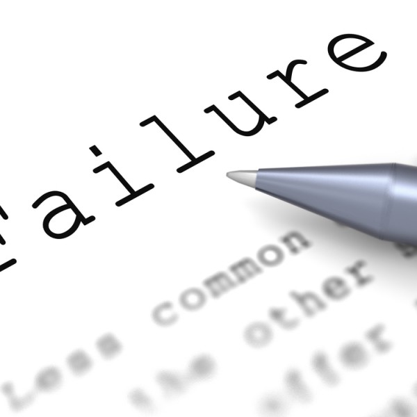 the title on a typed piece of paper is FAILURE