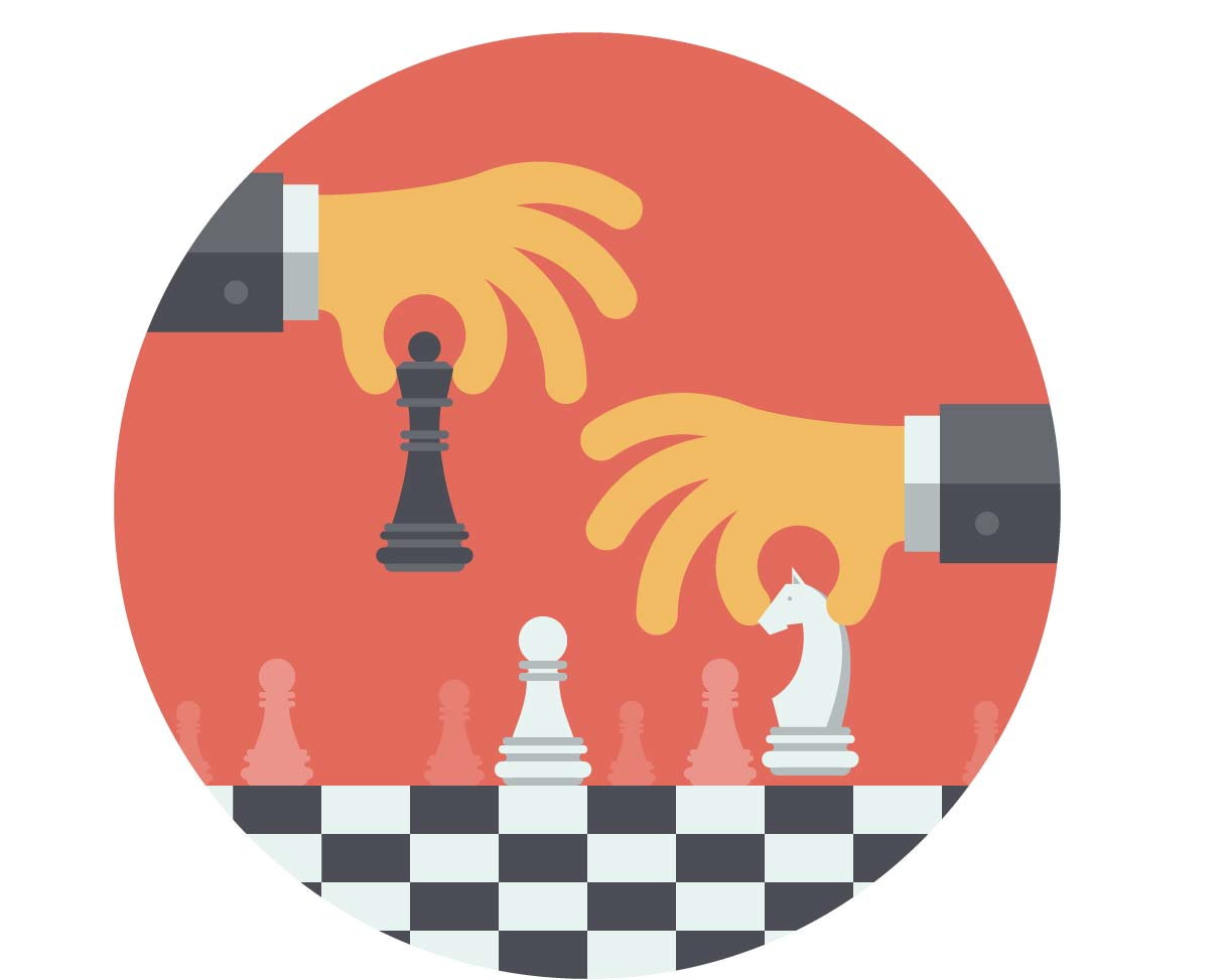 strategy execution steps chess match picture