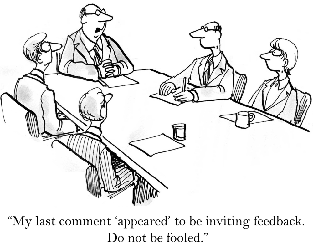 Leaders and Managers Should Not Give Feedback