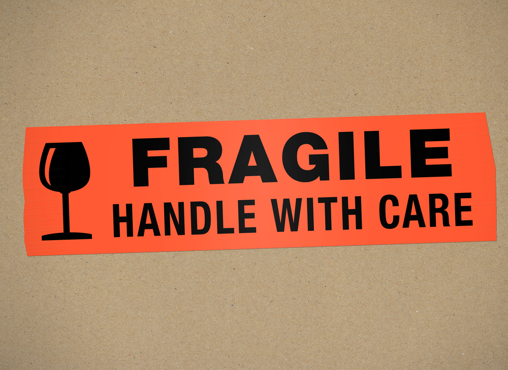 "A box is labeled ""Handle with Care"" as you should handle top talent"