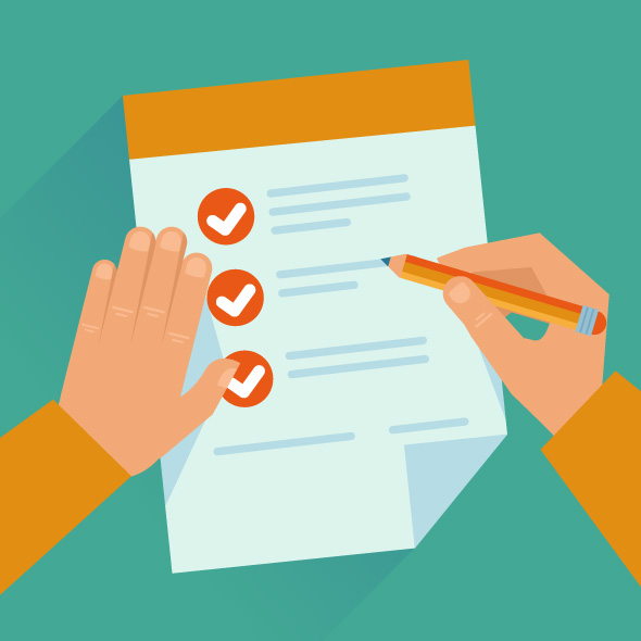 A picture of a checklist that illustrates the best way to go about onboarding new talent