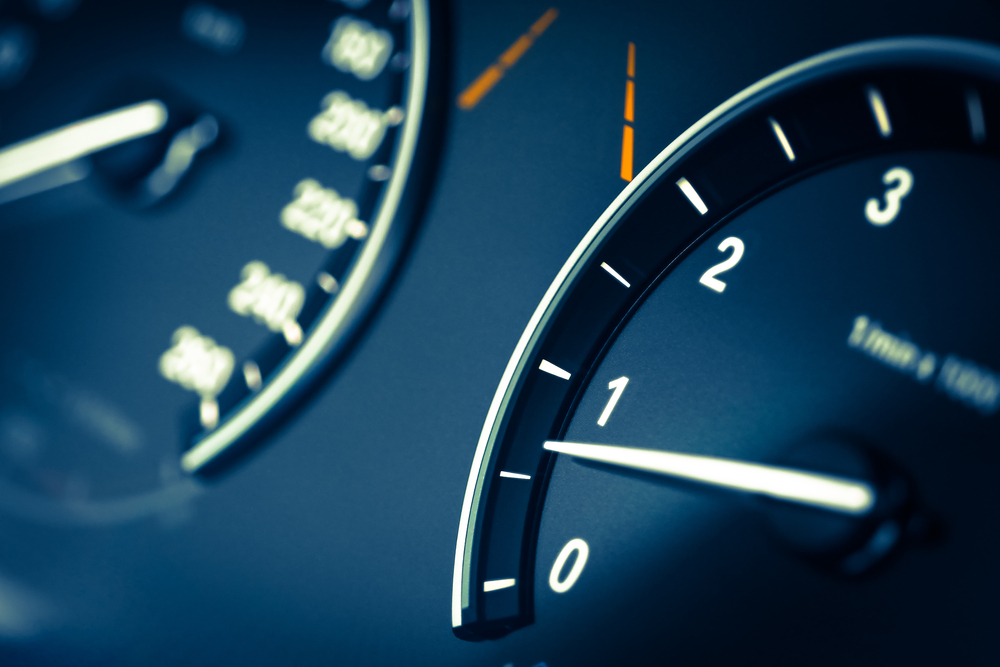 A car tachometer suggests that a corporate culture might be re-set