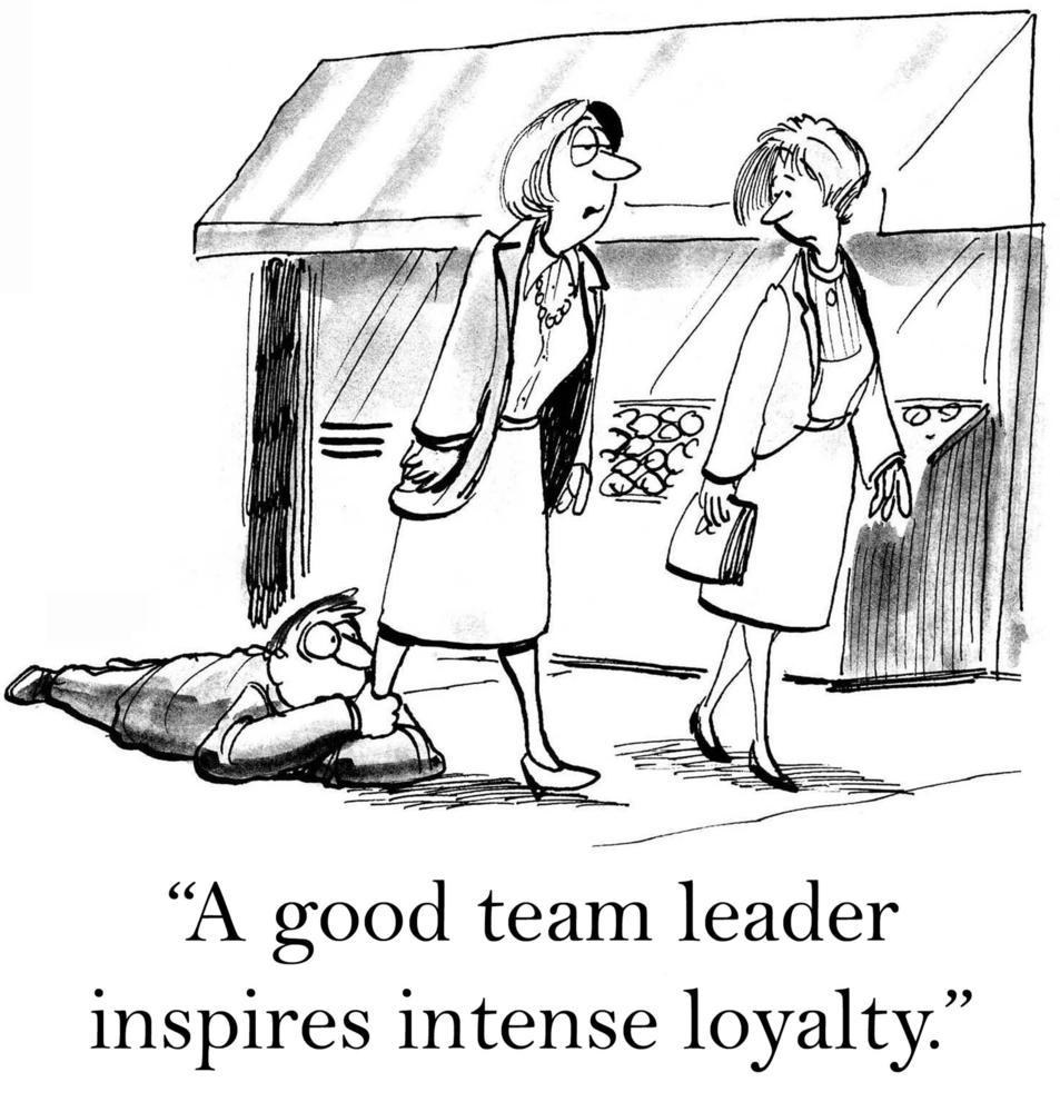 Strong Leaders Build Trust Holding on to Leg