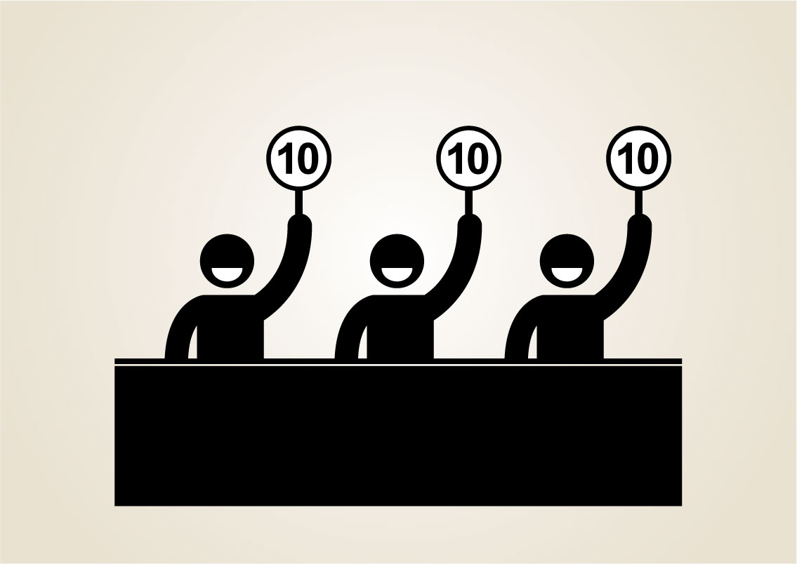 Votes by 3 judges are 10s because they used the top Activities to Improve Employee Engagement