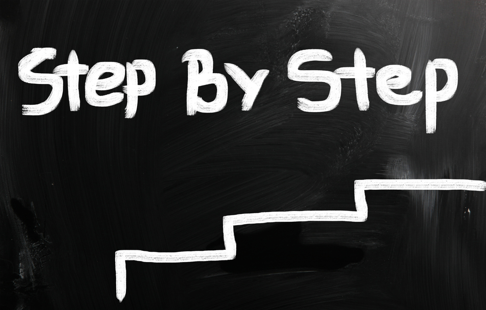 steps going up to illustrate how to achieve better change management
