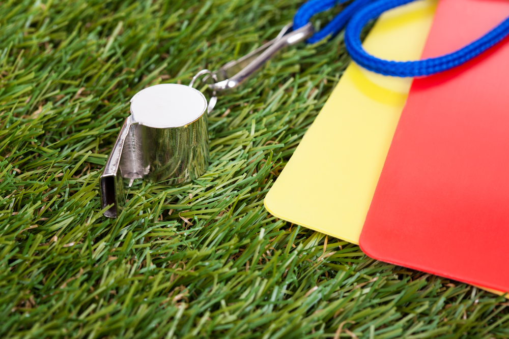 A whistle on the turf to show that New Managers Can Be Better Coaches