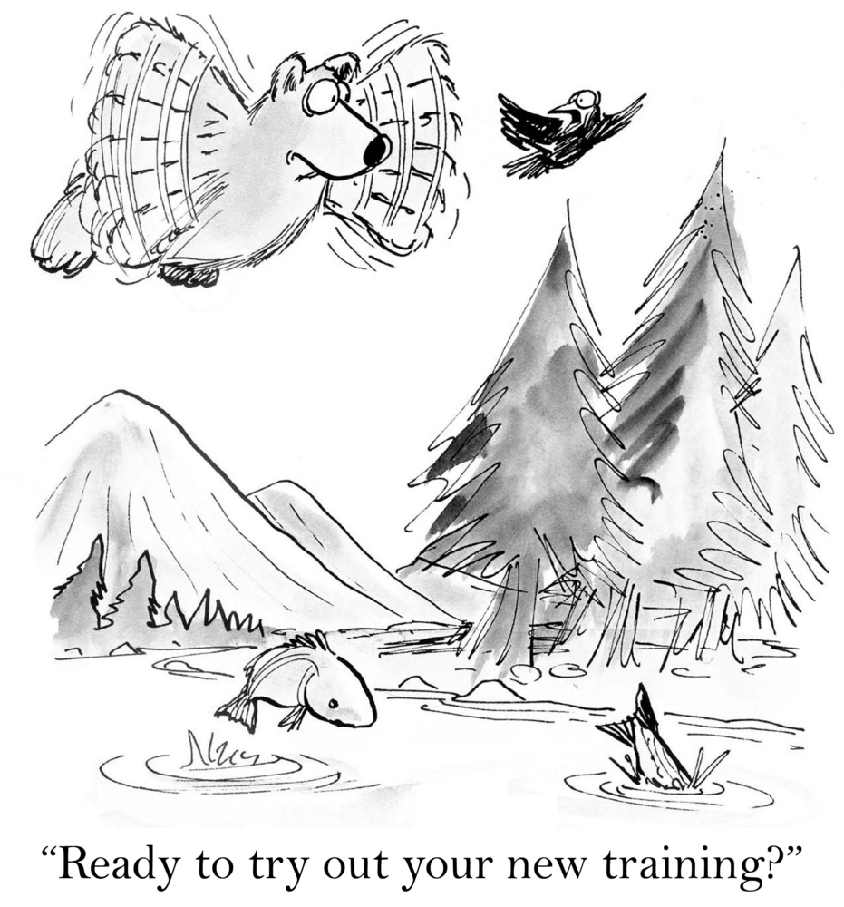 a cartoon that illustrates how to Improve New Manager Training