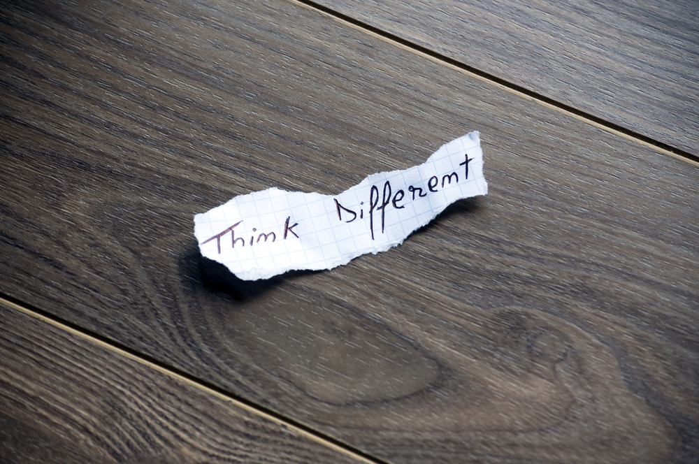 A note that says Think different as a tip on how to Shape Culture During High Growth