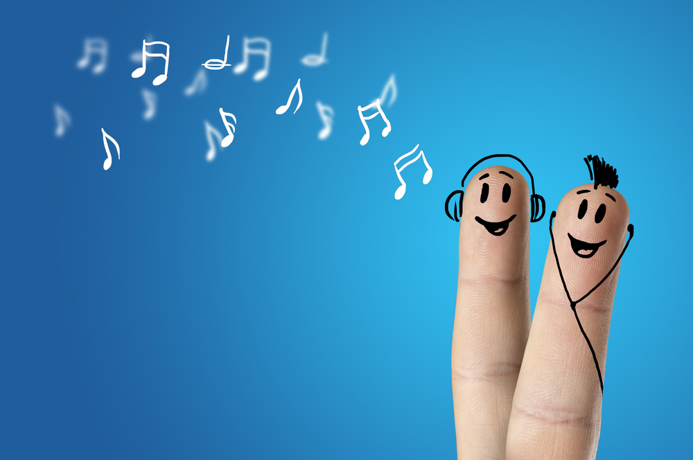 two fingers with happy faces indicating a successful strategy implementation