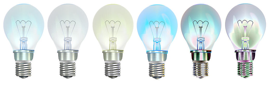 6 light bulbs showing ideas on how to better communicate your strategy