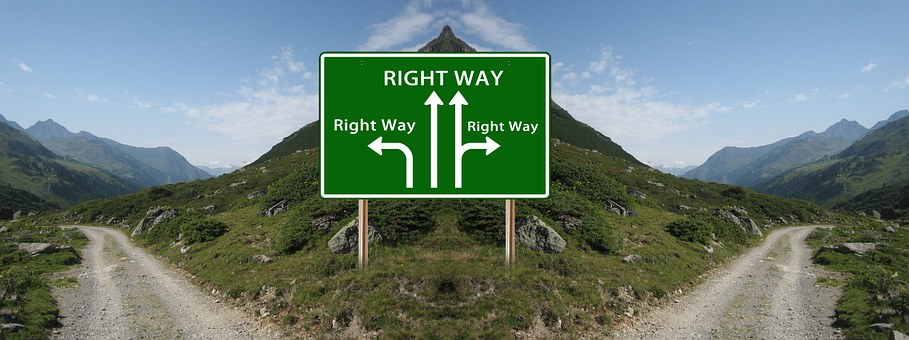 Directiion sign lacking guidance on Decision Making Tips for New Managers